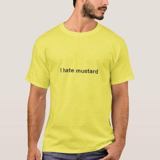 Moutarde détestant la chemise t-shirt