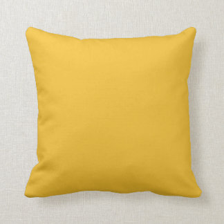 Moutarde jaune oreiller