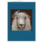 Moutons avec la carte Cerulean de fauvette