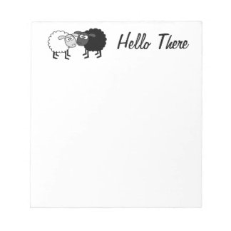 """Moutons blancs de moutons noirs 5,5"""" x 6"""" pages du bloc-note"""