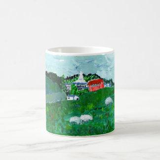 Moutons dans une tasse de paysage de la Nouvelle