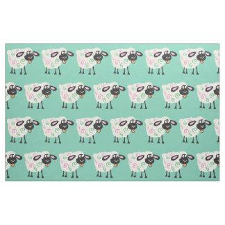 moutons de bande dessinée tissu