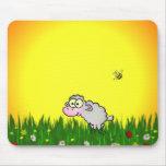 Moutons de champ tapis de souris