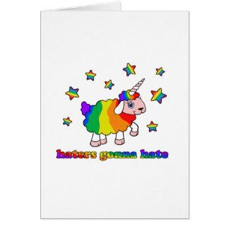 Moutons de licorne cartes