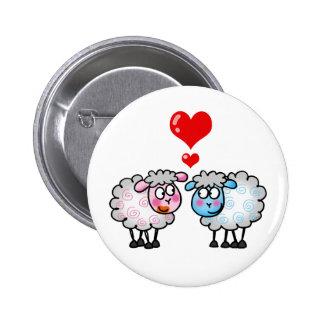 Moutons drôles de bande dessinée épousant des cou badges