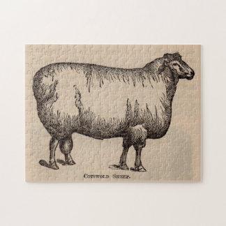 Moutons du 19ème siècle de Cotswold d'impression Puzzle