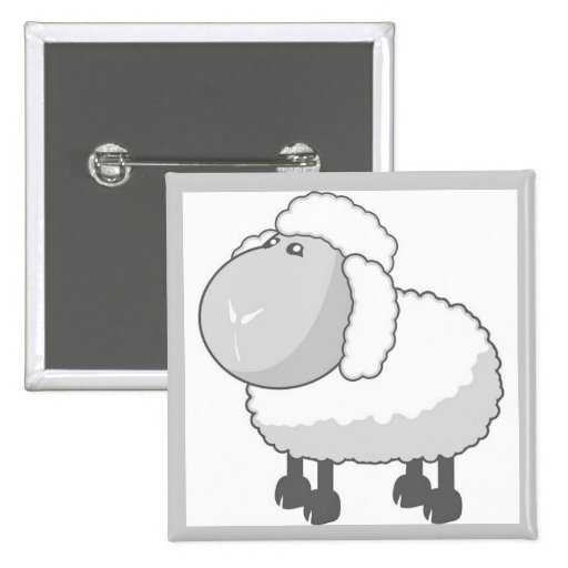 Moutons mignons badge