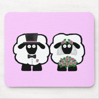 Moutons Mousepad de mariage Tapis De Souris