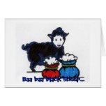 Moutons noirs de bêlement de bêlement… cartes de vœux