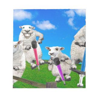 Moutons sautants blocs notes