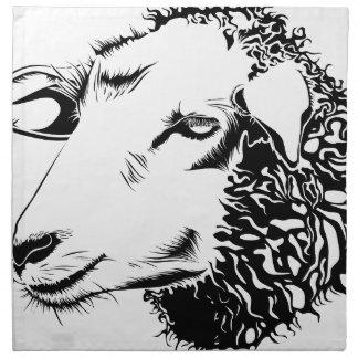 moutons serviette imprimée