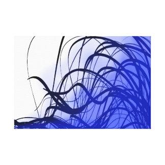 Mouvement bleu - copie de toile