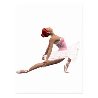 Mouvement dynamique de ballet carte postale