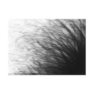 Mouvement noir de ficelle - copie de toile