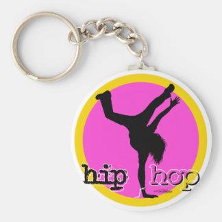 Mouvements de danse de HIP HOP Porte-clé Rond