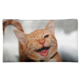 Moyenne Trousse De Maquillage Chat clignant de l'oeil - chat orange - les chats