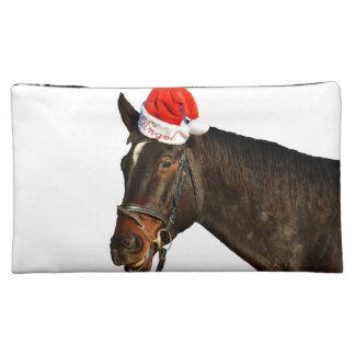 Moyenne Trousse De Maquillage Cheval père Noël - cheval de Noël - Joyeux Noël