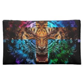 Moyenne Trousse De Maquillage Tigre croisé - tigre fâché - visage de tigre - le