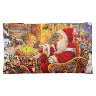 Moyenne Trousse De Maquillage Traîneau de Père Noël - illustration du père noël