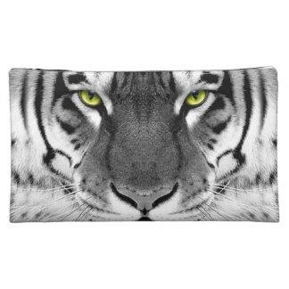 Moyenne Trousse De Maquillage Visage de tigre - tigre blanc - tigre de yeux -
