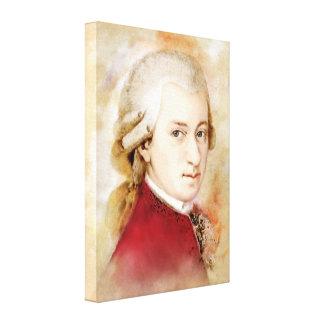 Mozart sur la toile - style d'aquarelle