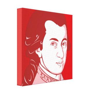 Mozart sur la toile - style de bande dessinée,