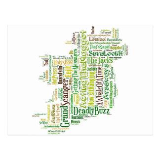 MPA irlandais d'argot Cartes Postales