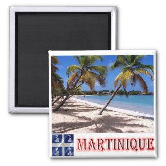 MQ - La Martinique - plage de Les Salines Magnet Carré