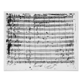 Ms.1548 Ouverture de l'opéra 'Don Giovanni Affiches