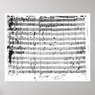 Ms.1548 Ouverture de l'opéra 'Don Giovanni Posters