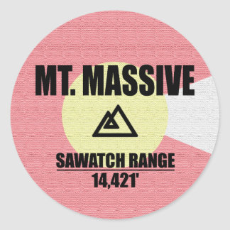 Mt. Massif Sticker Rond