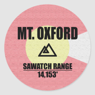 Mt. Oxford Sticker Rond