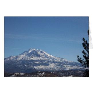 Mt Shasta Carte De Vœux