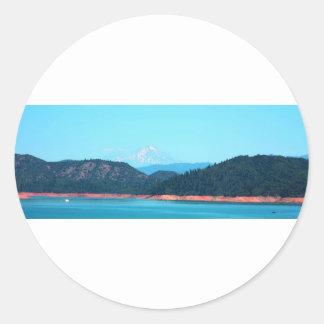 Mt Shasta Sticker Rond