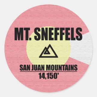 Mt. Sneffels Sticker Rond
