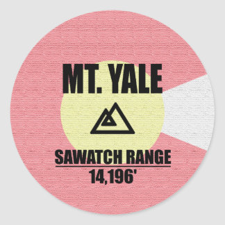 Mt. Yale Sticker Rond