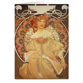 Mucha-2-1890 Carte De Vœux