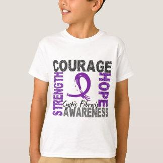 Mucoviscidose d'espoir de courage de force t-shirt