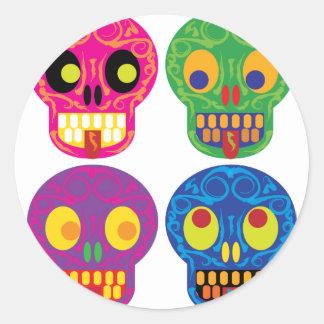 Muertos de diamètre de los todos los sticker rond