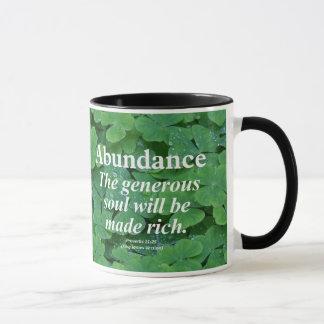 Mug 11h25 de proverbes d'abondance