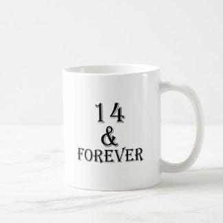 Mug 14 et pour toujours conceptions d'anniversaire