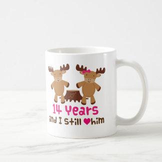 Mug 14ème Cadeau d'anniversaire pour elle