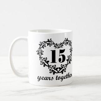 Mug 15ème Anniversaire 15 ans ensemble de coeur de