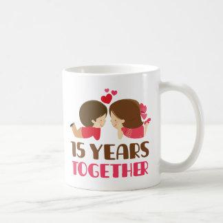 Mug 15ème Cadeau d'anniversaire pour elle