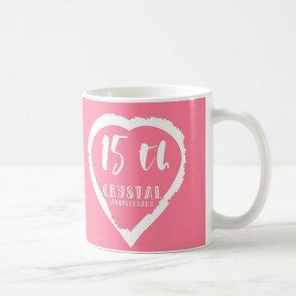 Mug 15ème Cristal traditionnel d'anniversaire de