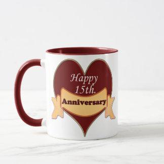 Mug 15ème heureux. Anniversaire