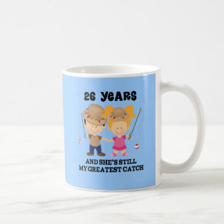 Mug 26ème Cadeau d'anniversaire de mariage pour lui