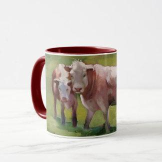 Mug 3 vaches dans un paysage