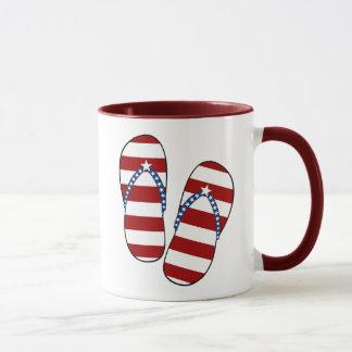 Mug 4 juillet bascules électroniques patriotiques de