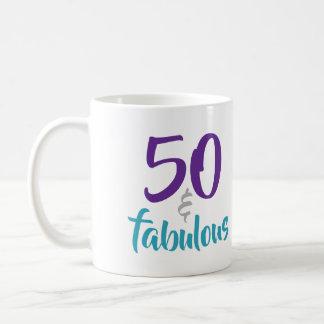 Mug 50 et fabuleux - cinquantième idée de cadeau